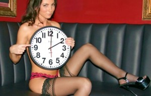 RICK'S CABARET NEW YORK GIRLS REMIND YOU TO RE-SET YOUR CLOCKS, AND