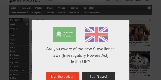 xHamster Asks U.K. Users to Sign Petition