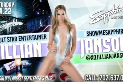 Jillian Janson Headlines Sapphire Las Vegas April 22nd!