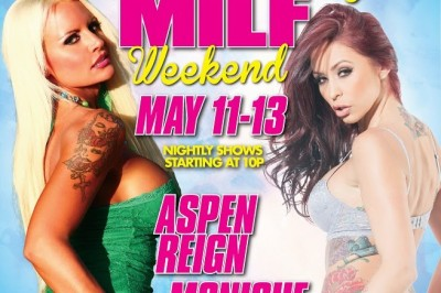 Aspen Reign and Monique Alexander at Larry Flynt's Hustler Club in Baltimore