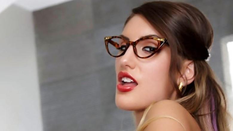Tits star glasses porn