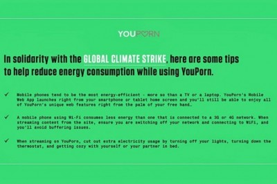 YouPorn Supports Global Climate Strike With Energy Usage Tips