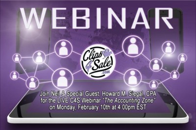 Clips4Sale's Accounting Zone Returns with Neil & Special Guest CPA Howard M. Siegal