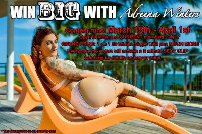 Adreena Winters Rewards Site Members with Exciting New Contest