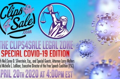 Special COVID-19 Edition of the Clips4Sale Legal Zone Is Happening on Monday